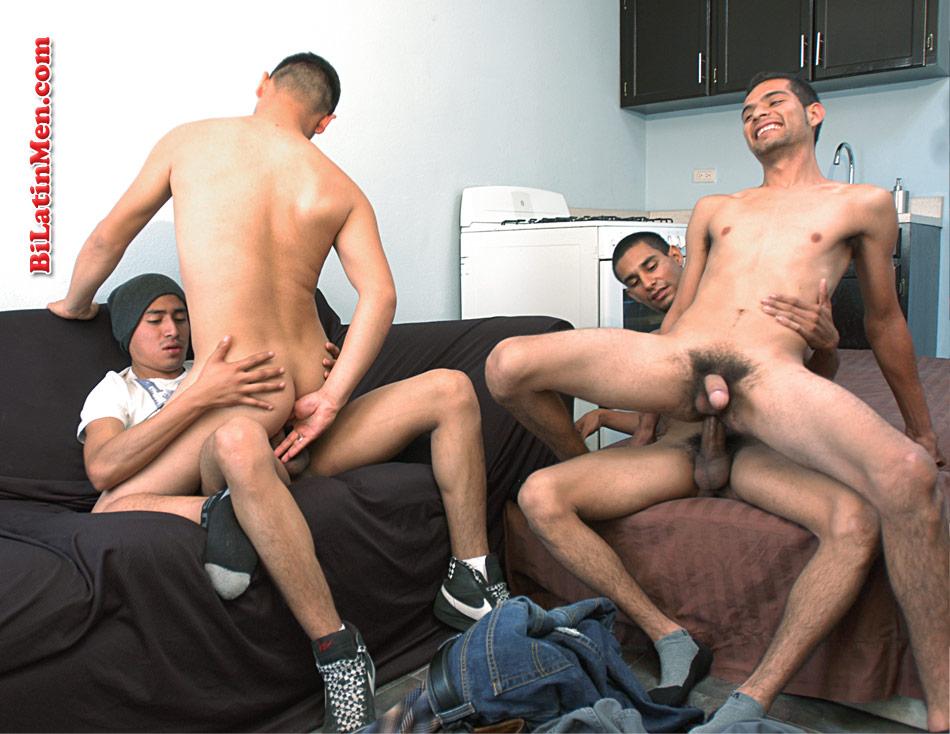 Gay latin orgy