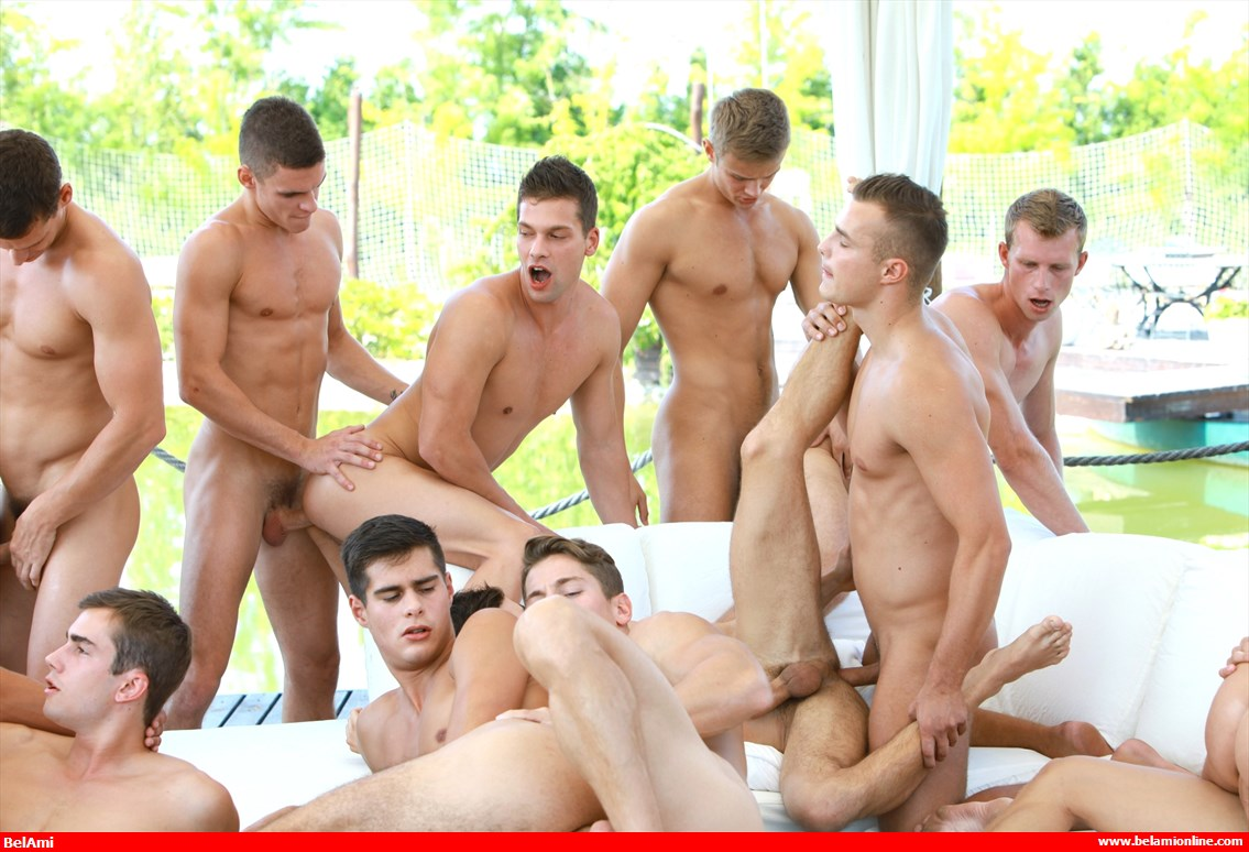 College gay orgy